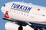 Πτήση Turkish Airlines πάνω απ' τις ελεύθερες περιοχές