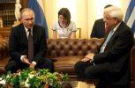 Πρ. Παυλόπουλος: Σε κρίσιμη συγκυρία για ευρύτερη περιοχή και Ευρώπη η επίσκεψη Πούτιν