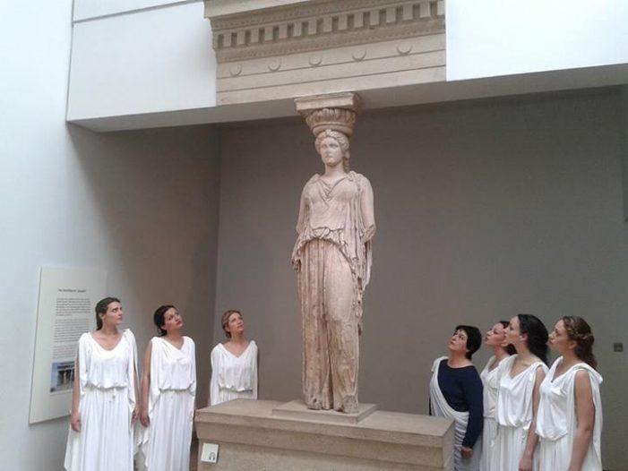 Μουσική διαμαρτυρία μέσα στο Βρετανικό Μουσείο για τα Γλυπτά του Παρθενώνα: «Bring them back!» – Ikypros