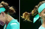 Ρωσίδα τενίστρια έκοψε τα μαλλιά της την ώρα του αγώνα