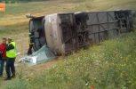 Ανετράπη λεωφορείο με μαθητές δημοτικού στις Σέρρες