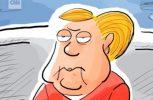 Ένας γελοιογράφος «σκιαγραφεί» την Άνγκελα Μέρκελ (video)