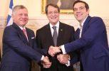 Ενοχλημένη η ΤΚ πλευρά για τη συμφωνία που υπέγραψαν Κύπρος- Ελλάδα- Ιορδανία