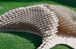 Εντυπωσιακό κιόσκι από 1600 κομμάτια ξύλου