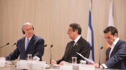 Κυπριακό, ενέργεια και περιφερειακές εξελίξεις επί τάπητος στην Τριμερή Κύπρου-Ελλάδας-Ισραήλ
