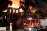Κάηκε ολοσχερώς το κτίριο του Πολεμικού Μουσείου Χανίων