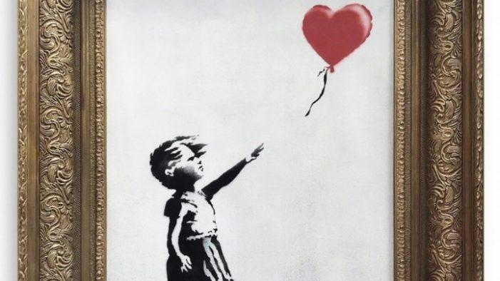 Ο αυτοκαταστρεφόμενος πίνακας του Μπάνκσι εκτίθεται στη Γερμανία