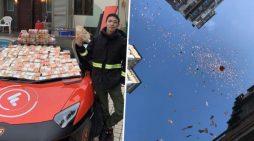 Συνελήφθη 24χρονος εκατομμυριούχος γιατί… σκορπούσε λεφτά από την οροφή κτιρίου!