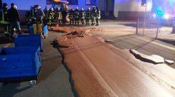 Γερμανία: Πλημμύρισε ο δρόμος σοκολάτα!